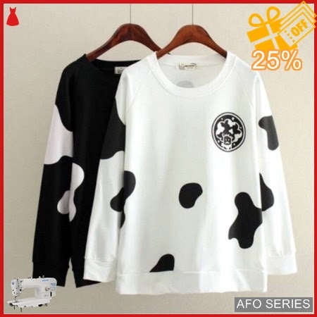AFO407 Model Fashion Sweater Cow Modis Murah BMGShop