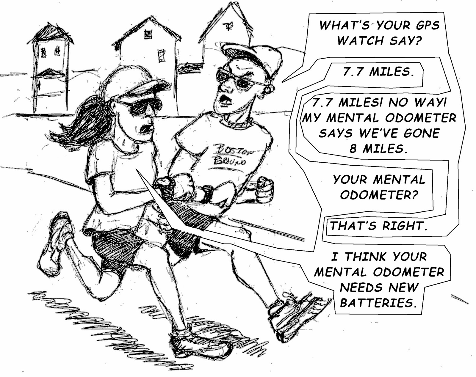 The Old Man and the Boston Marathon: RUNNING CARTOON OF