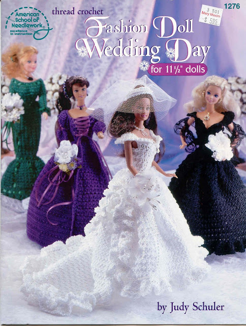 Vestido de Noiva de Crochê Para Barbie pattern