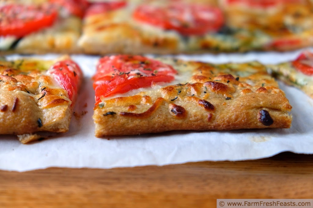 Tomato Basil Pizza from Farm Fresh Feasts