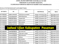 Jadwal dan Nama Peserta UJIAN CAT CPNS 2018 - Kabupaten Pasaman, Download Disini !!!