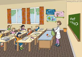 dibujo de un aula