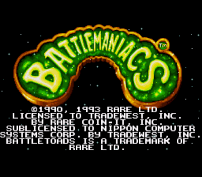 【SFC、MD】忍者蛙,Battletoads in Battlemaniacs!