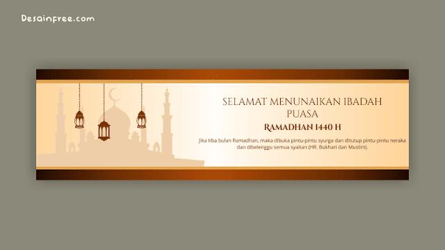 Desain Spanduk Bulan Ramadhan 1440 H Free Download