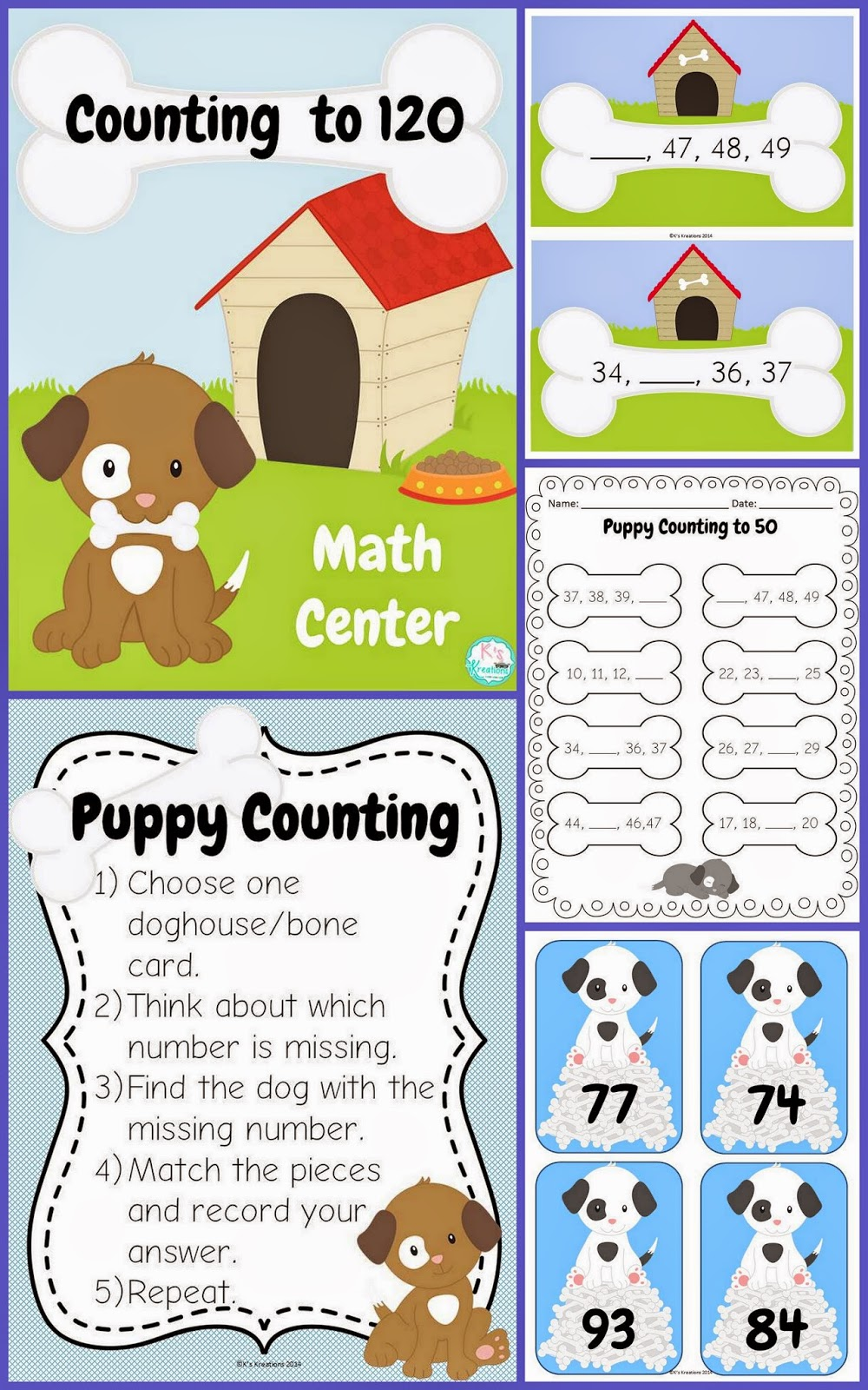 http://www.teacherspayteachers.com/Product/1NBT1-Counting-to-120-Dog-Theme-1422808