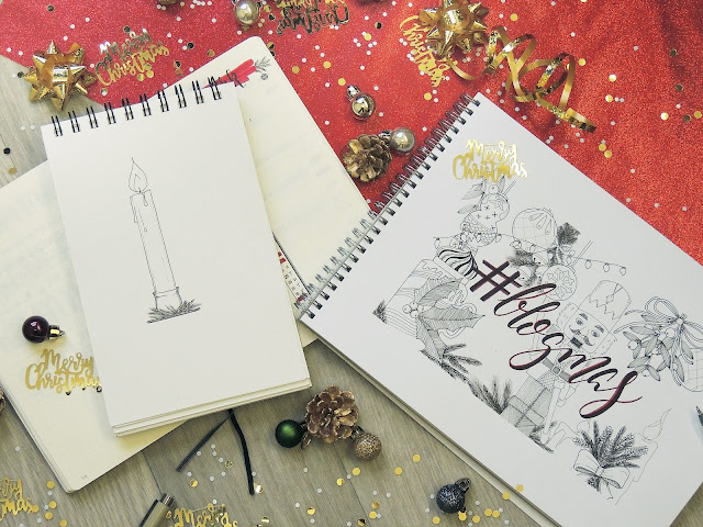 bullet journal sketching glitterisblack blogmas 2018