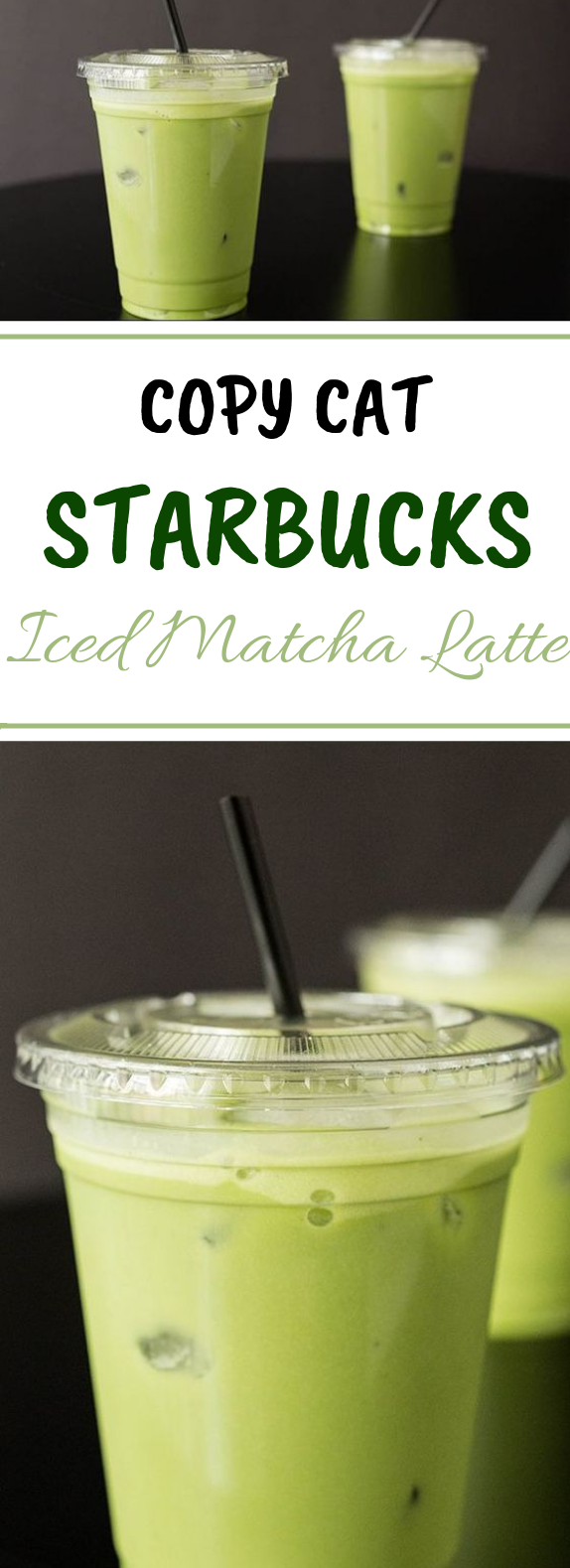 Copycat Starbucks Iced Matcha Latte #matcha #drinks