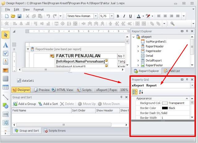 1 Cara Setting Ukuran Kertas Nota Atau Bukti Laporan Program Toko iPos 4.0