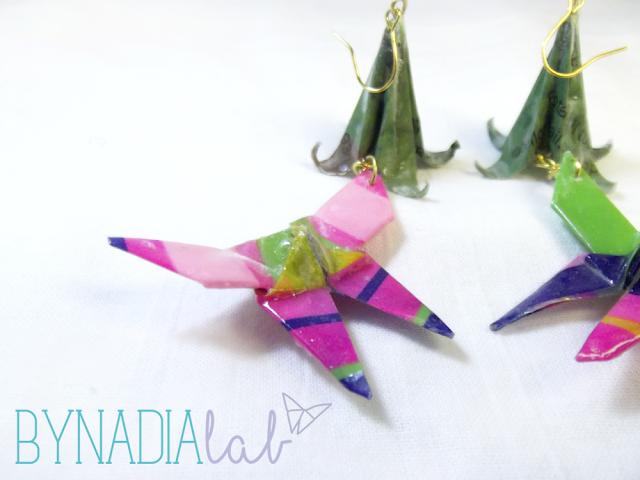 orecchini origami bynadialab