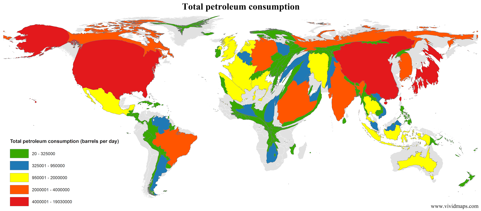 Total petroleum consumption