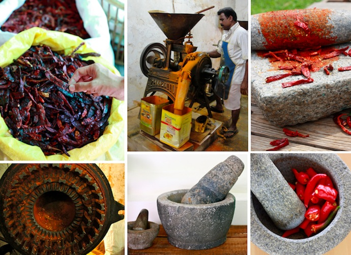 how to grind dried red chili into powder