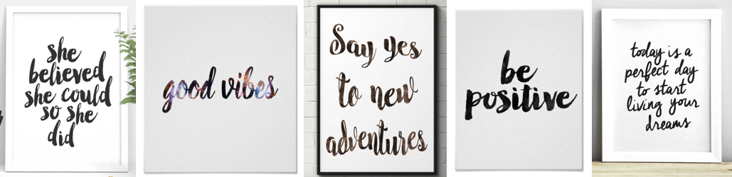 Positive Quote Prints