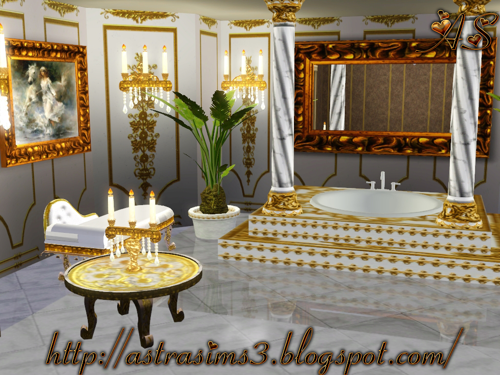 My Sims 3 Blog: Royal Bathroom Set By Astra