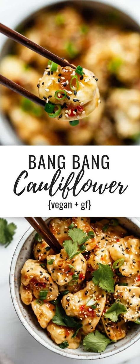 Cauliflower gets battered, baked and then topped off with a sweet and spicy chili sauce!