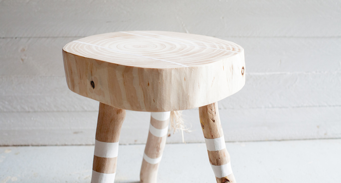 handmade wooden stool