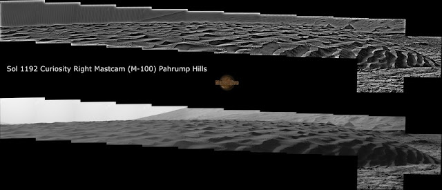 Sol 1192 Curiosity Right Mastcam (M-100) Pahrump Hills