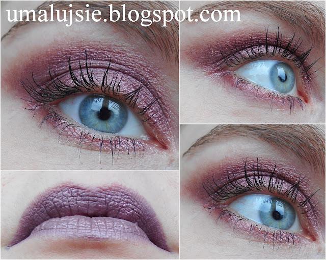 Makijaż: powieki i usta w tym samym kolorze