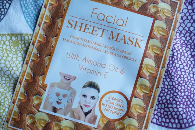 action facial sheet mask almond oil vitamine e