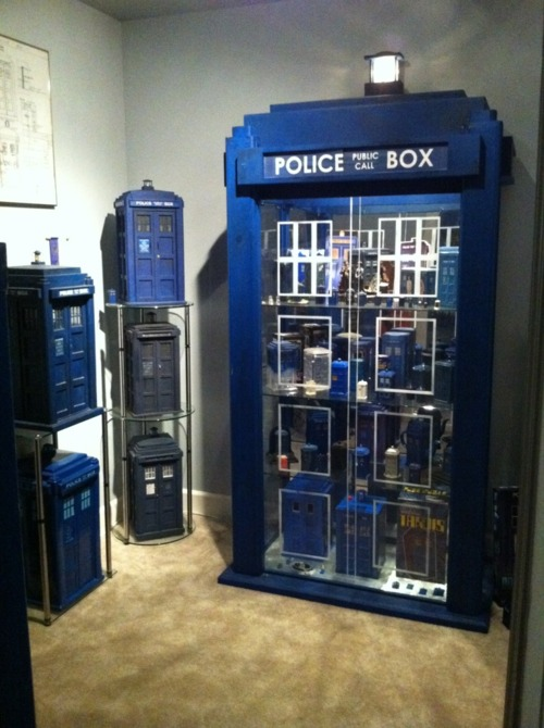 Hello I M The Doctor Tardis Display Cabinet