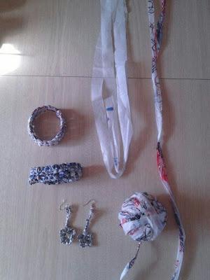 plarn, jewelry, bangles, earrings, crochet