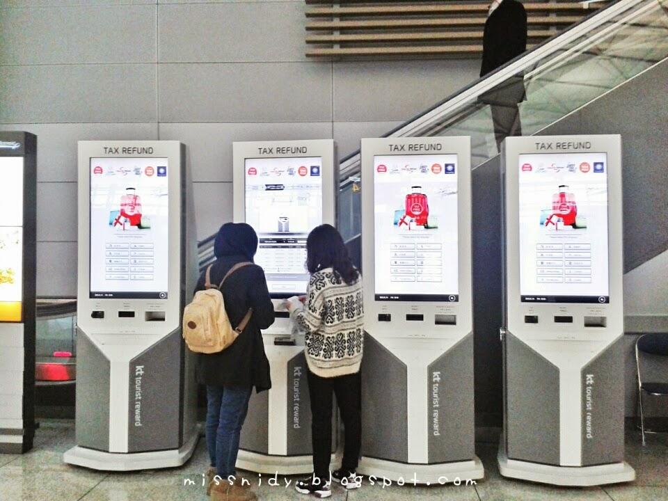 tax refund di incheon airport
