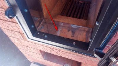 заделка топочной дверцы