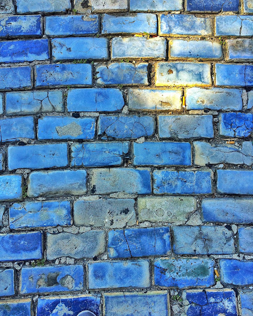 Blue Cobblestone roads in Old San Juan