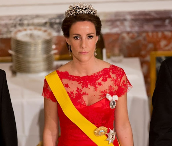 Princess Marie of Denmark attends a State Banquet at Fredensborg Palace