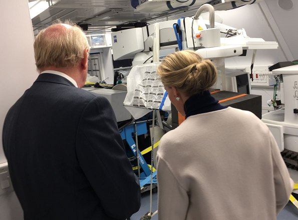 Sophie, Countess of Wessex visited the Orbis flying eye hospital at Stansted Airport in Essex. Eye charity Orbis's new Flying Eye Hospital