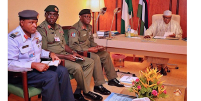 Buhari, service chiefs in secret meeting at Aso Villa [BREAKING]