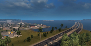 American Truck Simulator Coast to Coast Map v 1.7.1 Download MODs