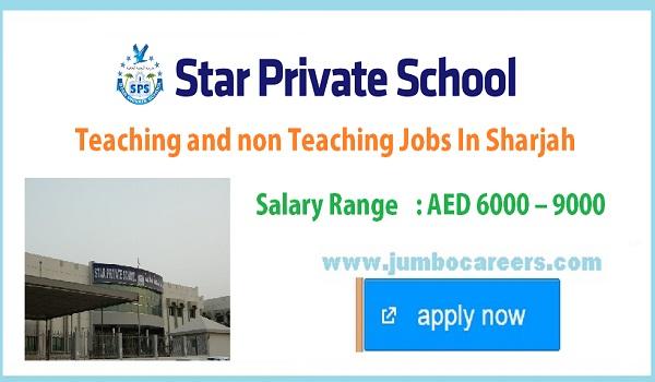 latest teachers jobs in Sharjah, Non teaching staff vacancies in UAE,