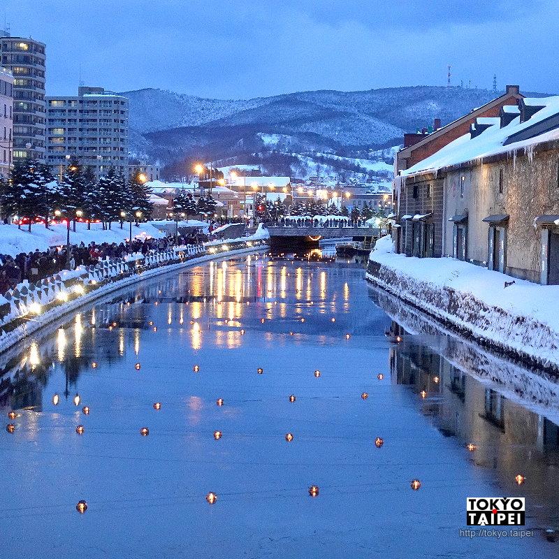 【小樽雪燈之路】蠟燭在浪漫雪燈籠發光 照亮運河與舊鐵道