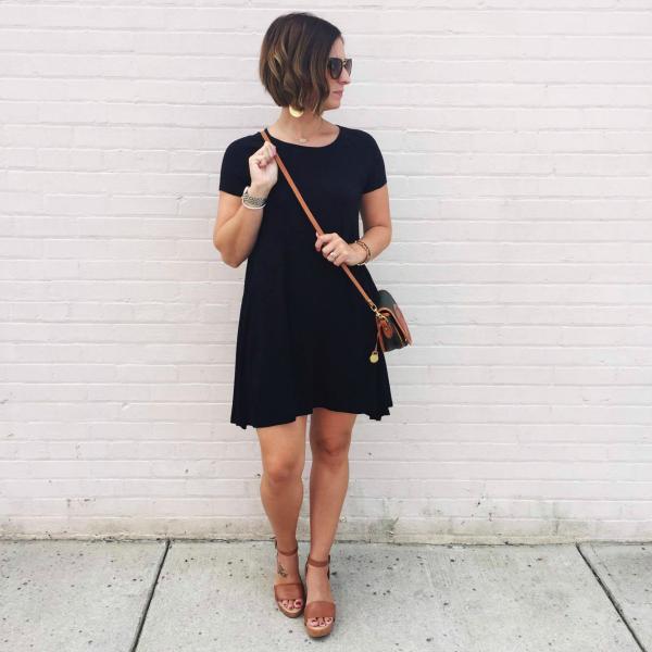 little black dress, swing dress, vintage dooney