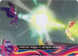 MLP Midnight Sparkle vs. Daydream Shimmer Equestrian Friends Trading Card