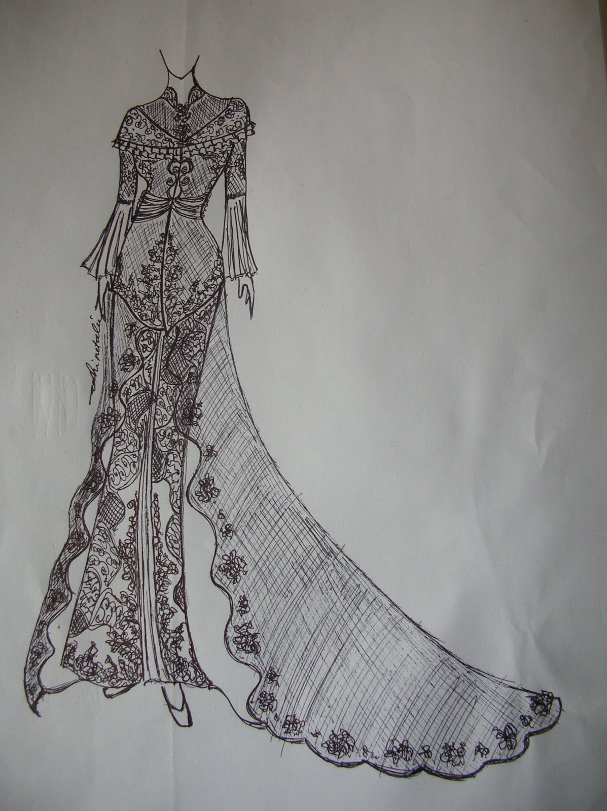 Gambar Desain Baju Long Dress  Koleksi Gambar HD