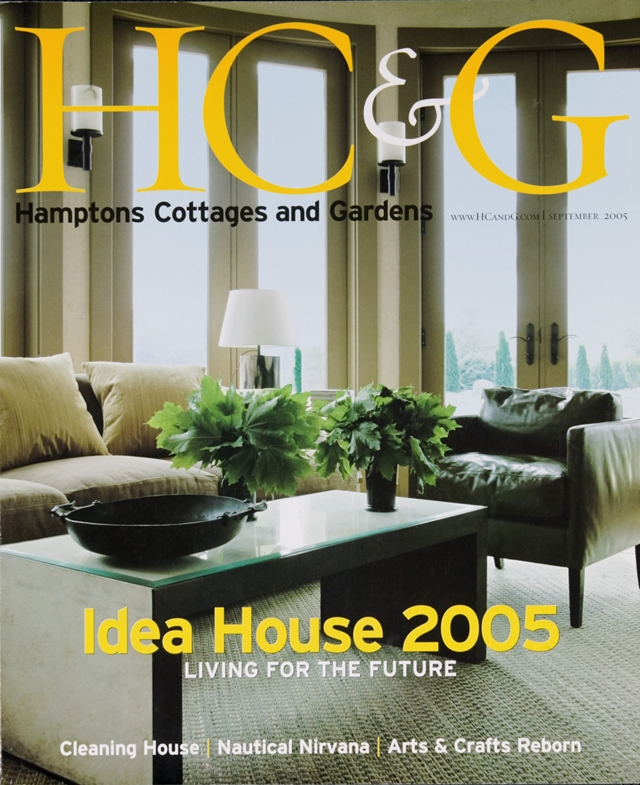 Photo of magazine cover where this restored cottage is published