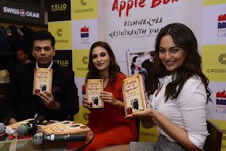 Sonakshi Sinha Karan Johar at Aishwarya Rajinikanth Standing on an Apple Box Book Launch Event  0068.jpg