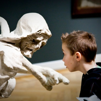 SMK - Liv og Døden - Barn oplever skulptur af døden