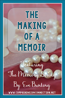 Writing memoirs with your class? Check out the book, The Memory String by Eve Bunting and use it as a mentor text. A FREEBIE is included. Just print and go!