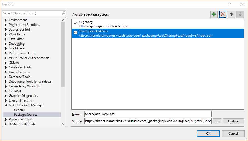 Share Code Like a Boss: Part 1 - Private NuGet Feeds in