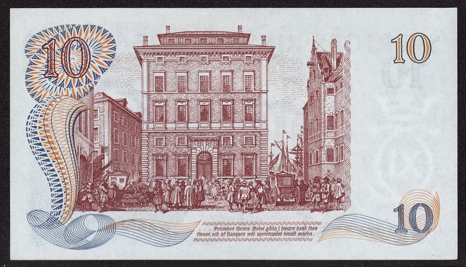 Sweden banknotes 10 Swedish Krona note Riksbank
