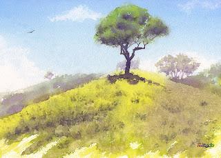 水彩画 一本の木 / A tree  Watercolor