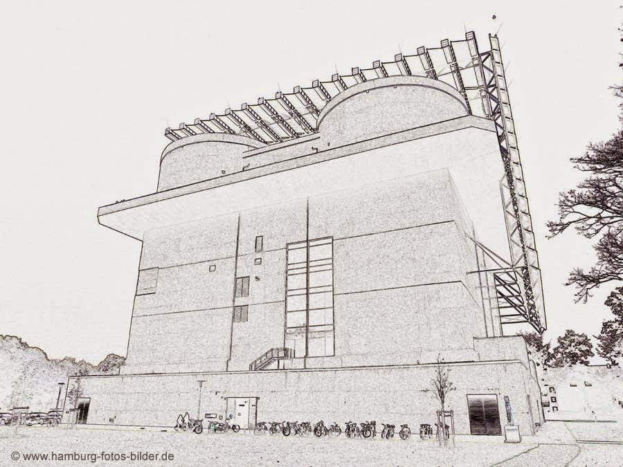 Umriss Energiebunker Hamburg