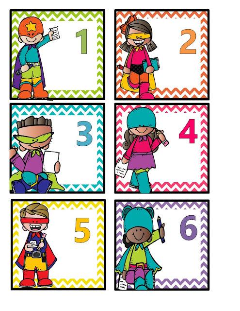 super hero calendar card freebie