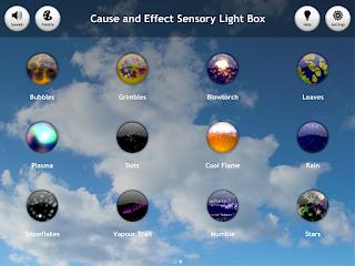 Gama de colores sensory light box