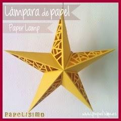 LAMPARA ESTRELLA DE PAPEL