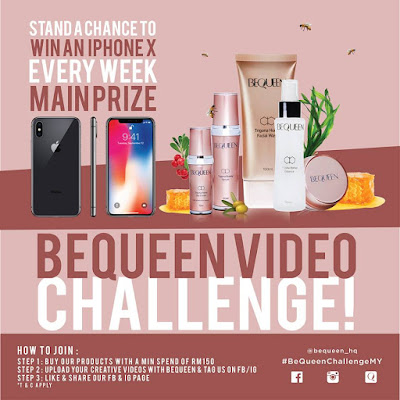 Be Queen Video Challenge, produk be queen, review be queen, best ke be queen, cuba be queen, video challenge, instagram video challenge