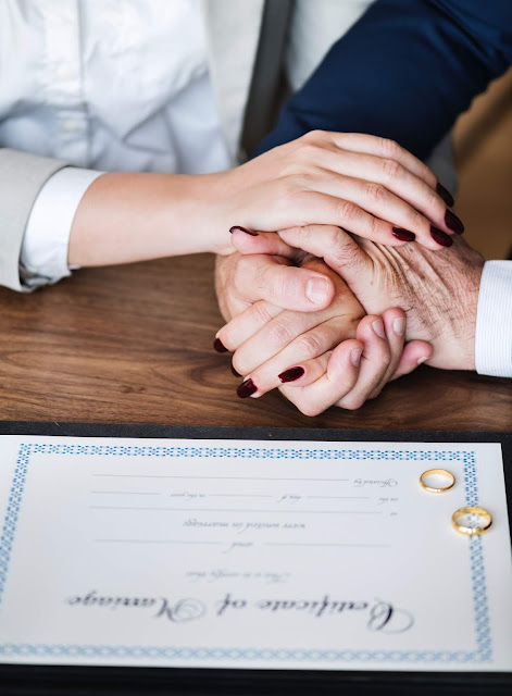 Marriage Agreement before Wedding Reception