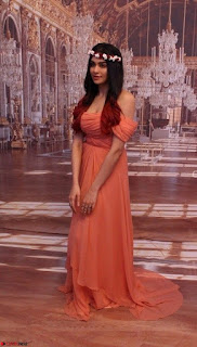 Adah Sharma Looks Angelic Beauty in off Shoulder Orange Gown Spicy Pics February 2017 011.jpg